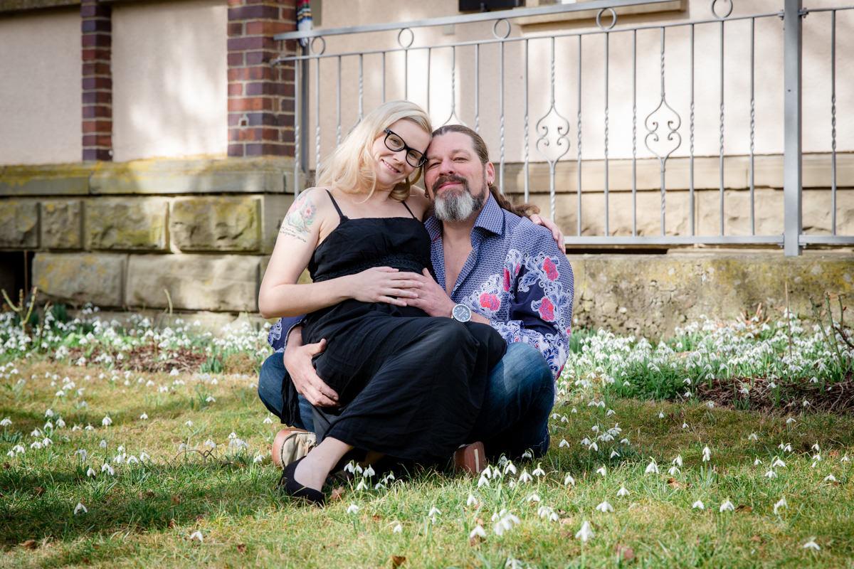 Babybauchshooting im Vintage Style, Schwangerschaftsshooting, Daggi Binder, maizucker