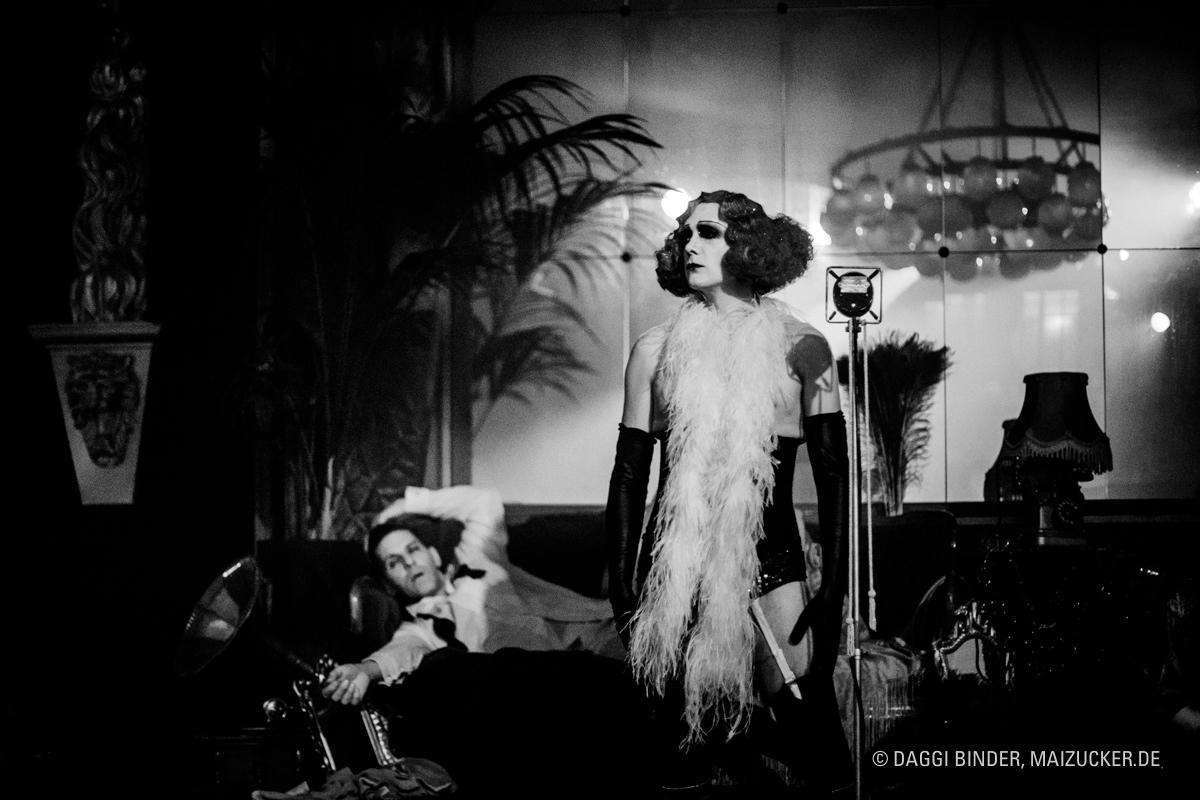Kabarett der Namenlosen, Ballhaus Berlin, Eventfotograf, Daggi Binder, maizucker, Le Pustra, Berlin 2018, 20er Jahre