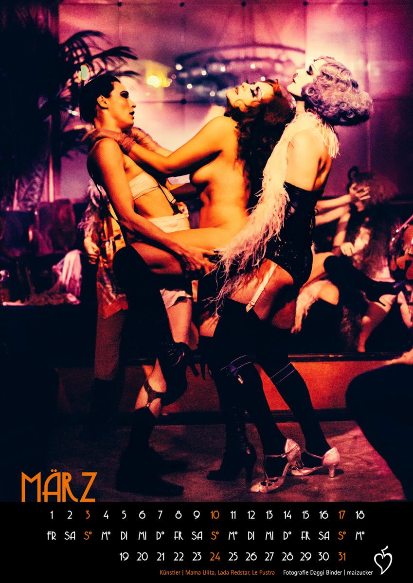 Kalender, Kabarett der Namenlosen Kalender, Limited Edition, Ballhaus Berlin, DINA3, Sale, 20er, Boheme, decadent, cabaret, weimarcabaret, zwanzigerjahre, cabaretberlin, lepustra, Daggi Binder, Mama Ulita