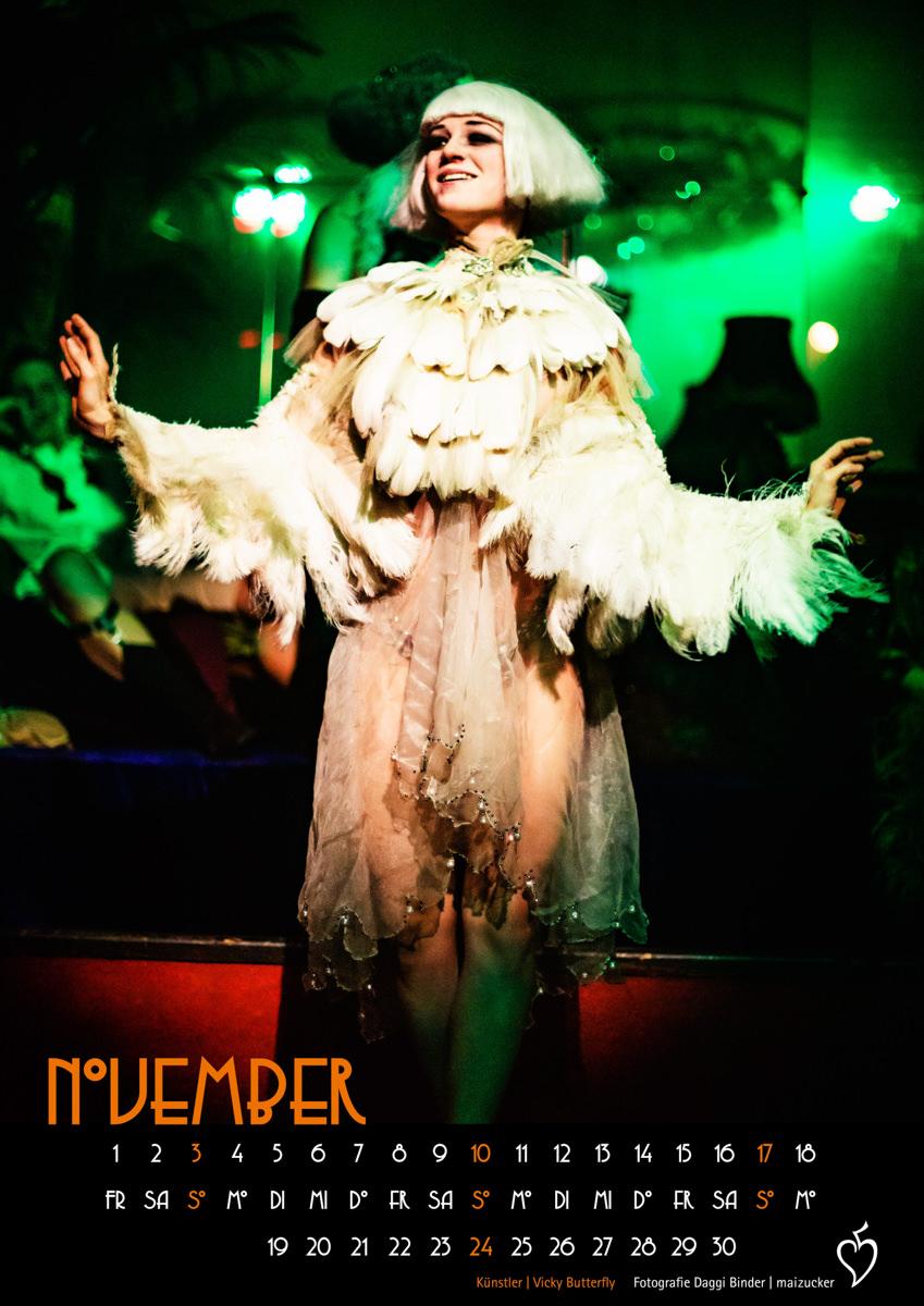 Kalender, Kabarett der Namenlosen Kalender, Limited Edition, Ballhaus Berlin, DINA3, Sale, 20er, Boheme, decadent, cabaret, weimarcabaret, zwanzigerjahre, cabaretberlin, lepustra, Daggi Binder